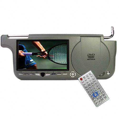 """Sluneční clona DVD - 7"""" LCD, DVB-T, Zip kryt, 480 x 234, ŠEDIVÁ PRAVÁ"""