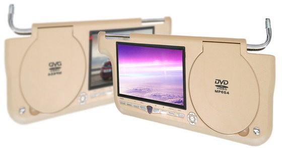 """Sluneční clona DVD - 7"""" LCD, Zip kryt, 480 x 234, BÉŽOVÁ PRAVÁ"""