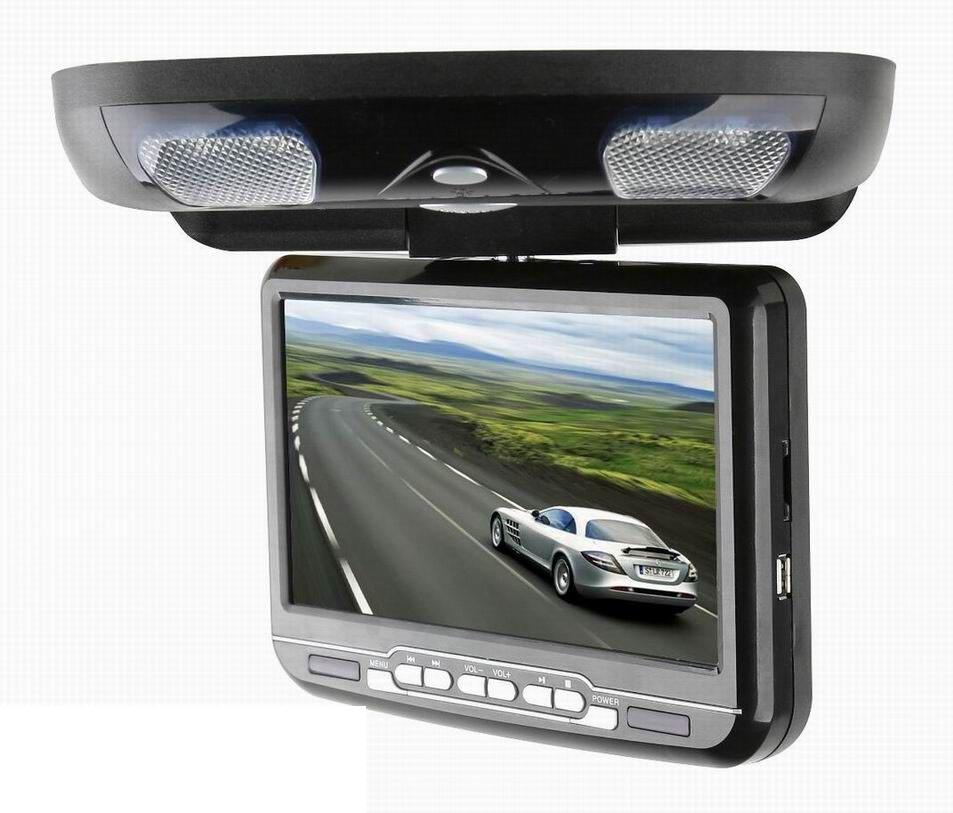 """Stropní DVD do auta - 9"""" digitální LCD, DVD,SD, USB, ČERNÝ"""